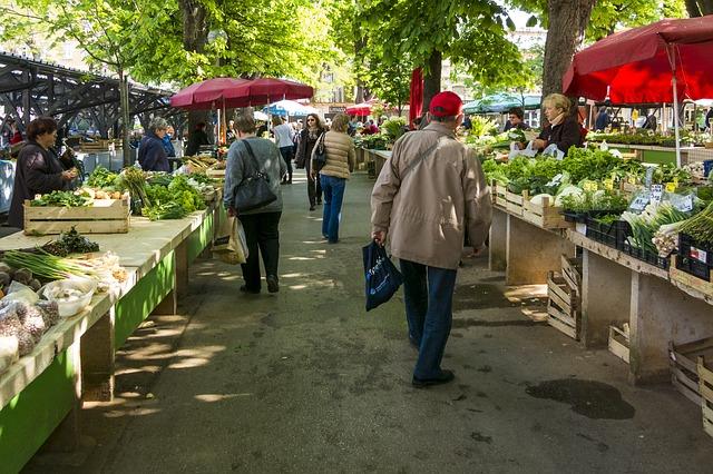 tržnice se zeleninou
