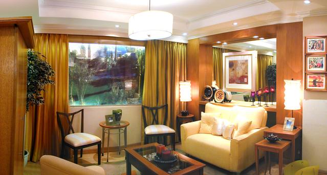 LED halogeny v obývacím pokoji